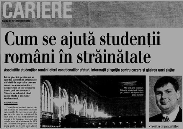 Ziar - studenti pentru export