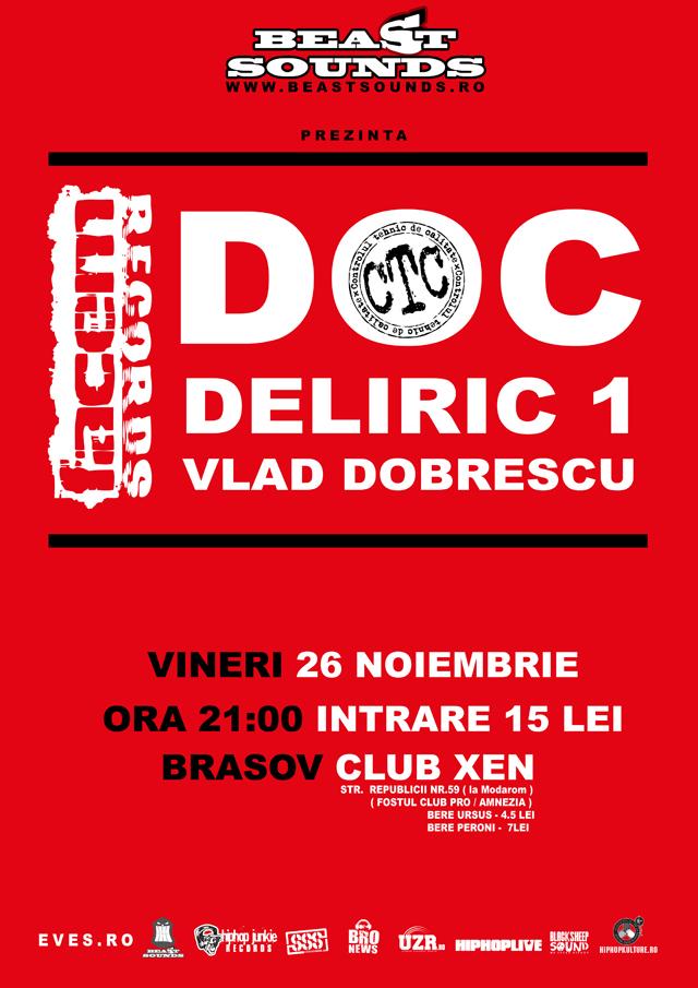 CTC, mai mult DOC sunt in concert la Brasov, club Xen :: Afis